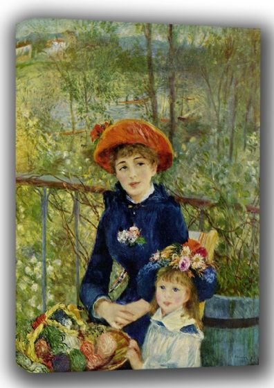 Renoir, Pierre Auguste: Two Sisters, or On The Terrace, 1881. Fine Art Canvas. Sizes: A4/A3/A2/A1 (001564)
